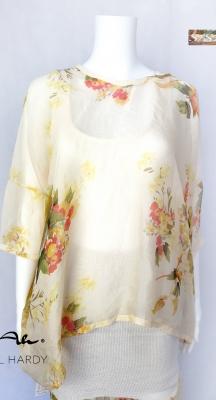 Флорална лятна блуза от естествена коприна НЕ Е НАЛИЧНА