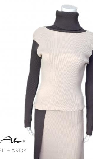 Къса ластична фино плетена блуза