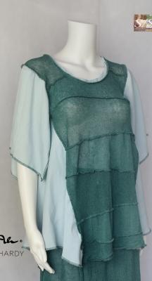 Ленена плетена блуза в свободен силует