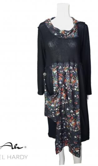 Фънки/бохемска рокля на цветя с джоб