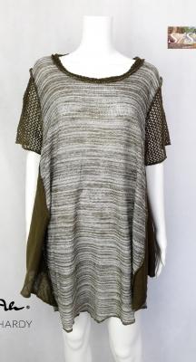 Кежуъл плетена меланжирана удължена блуза НЕ Е НАЛИЧНА