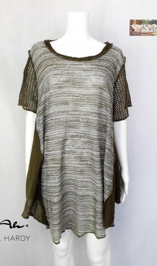 Кежуъл плетена меланжирана удължена блуза
