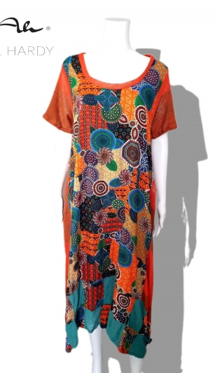 Етно и бохо пъстра рокля